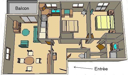 plan d'un appartement f3